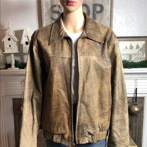 Stunning Vintage Leather Bomber Jacket
